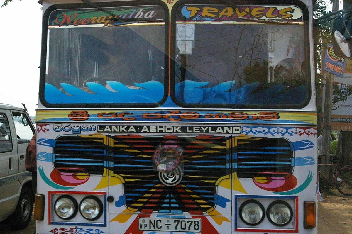 autobus in Sri Lanka